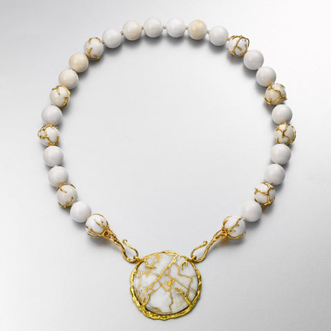 Gold-in-Quartz Necklace