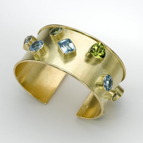 Cuff Bracelet with Stones