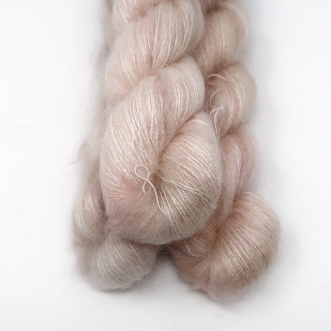 peach | mohair lace