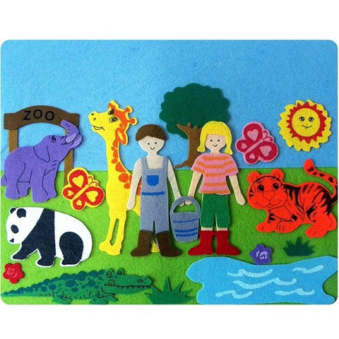 Felt Board - Fun At The Zoo