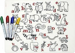 Alphabet Animals Mark-mat with Markers