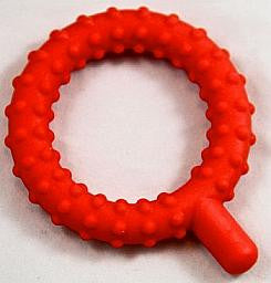 Knobby Q Teether, Textured Red