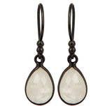 Rainbow Moonstone Sterling Silver Drop Earrings