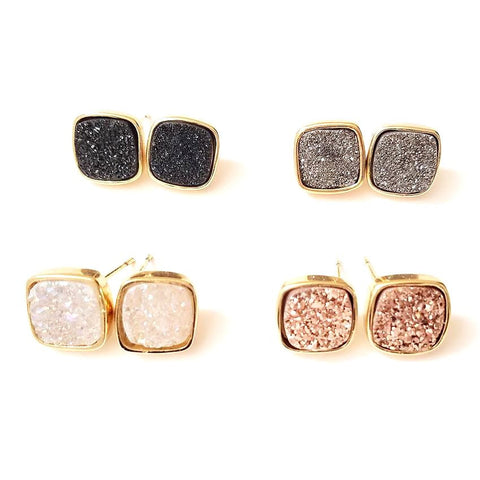 Image of Diamond Druzy Studs