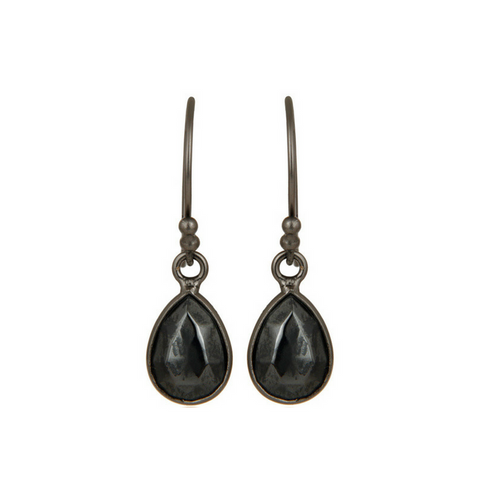 Image of Hematite Oxidized Sterling Silver Drop Earrings