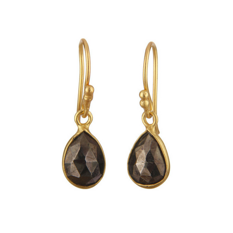 Image of Pyrite Gold Vermeil Drop Earrings