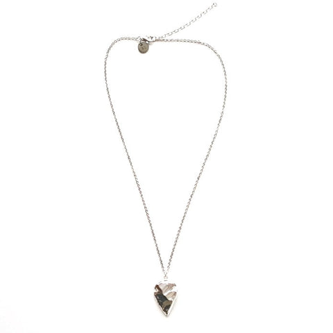 Image of Arrowhead Pendant Necklace in Silver