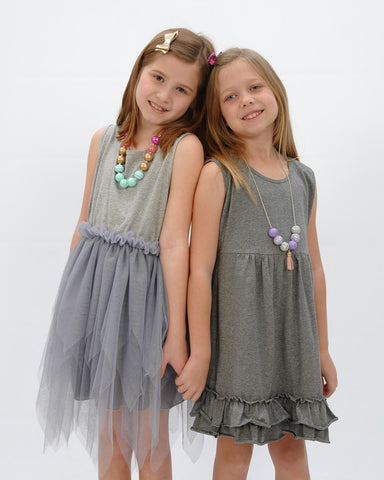 Grey Tutu Dress - Plaid Buttercup