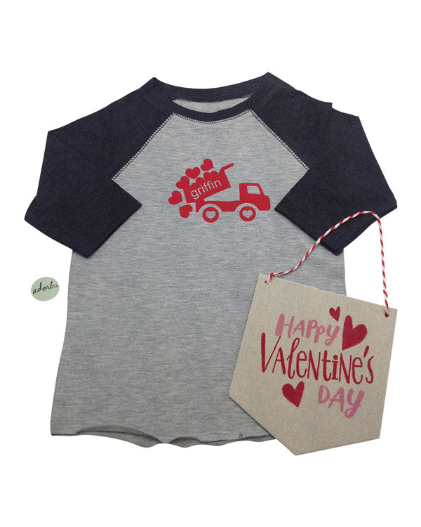 Dump truck valentine's design - Plaid Buttercup