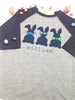 Three Cool Bunnies Boys Tee - Plaid Buttercup