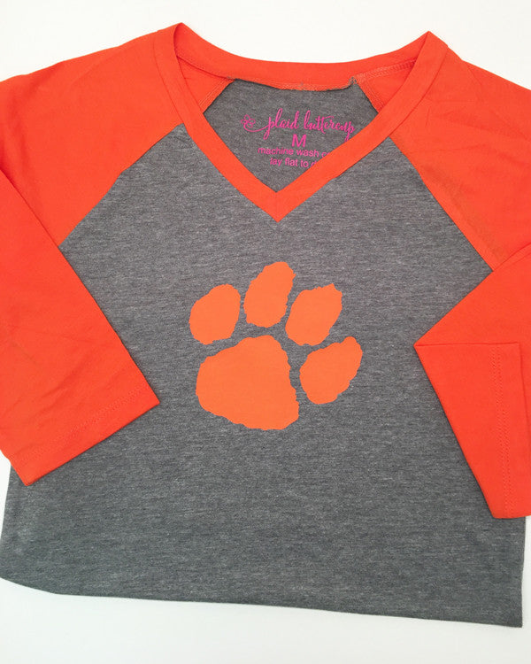 Tiger Paw Hoodie or Tee - Plaid Buttercup