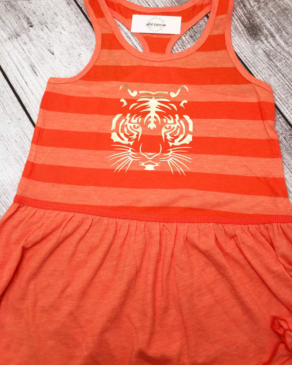 Tiger Dress - Plaid Buttercup