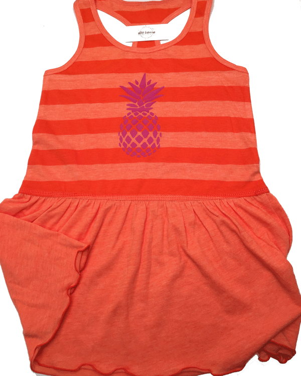 Girls Pineapple Dress - Plaid Buttercup