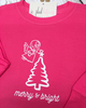 merry & bright Christmas tee - Plaid Buttercup