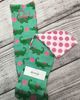 Monogrammed Polka Dot Gator Socks - Plaid Buttercup