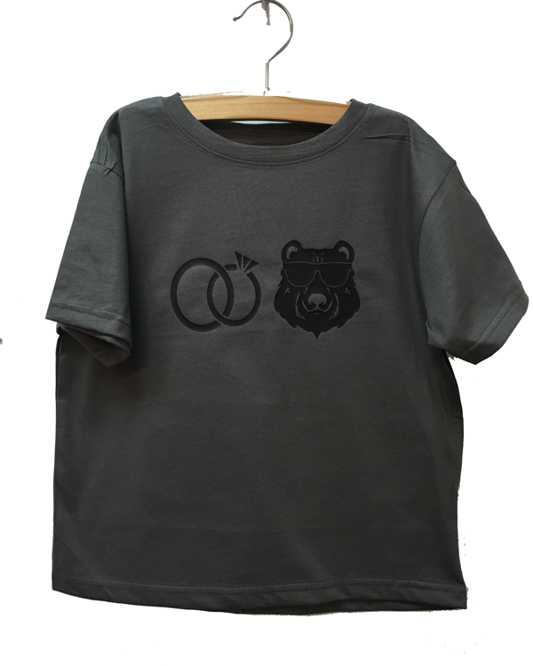 ring bear pic tee - Plaid Buttercup