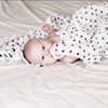 Organic Cotton Muslin Swaddle Blanket - Swiss Cross - Plaid Buttercup