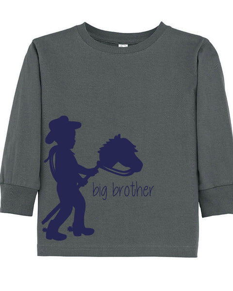 Cowboy silhouette brother tee big brother new brother tee