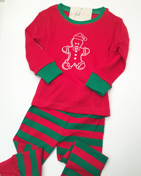Gingerbread Pajamas - Plaid Buttercup