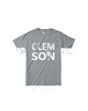 clemson tee - Plaid Buttercup