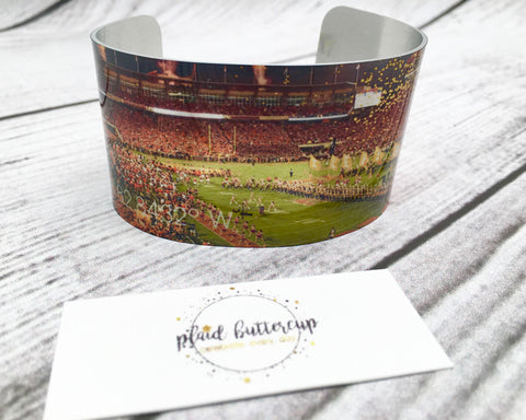Clemson Death Valley Cuff - Plaid Buttercup
