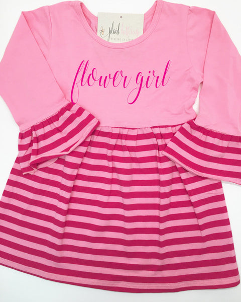 Flower Girl Casual Dress - Plaid Buttercup
