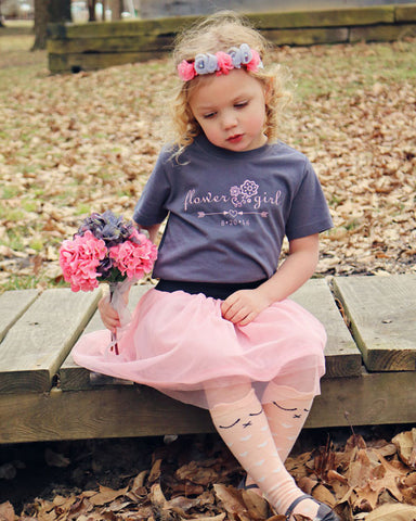 Flower Girl Tee - Plaid Buttercup