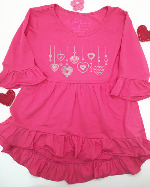 Valentine's Heart Tee - Plaid Buttercup
