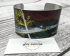 Greenville, SC Liberty Bridge Cuff Bracelet - Plaid Buttercup