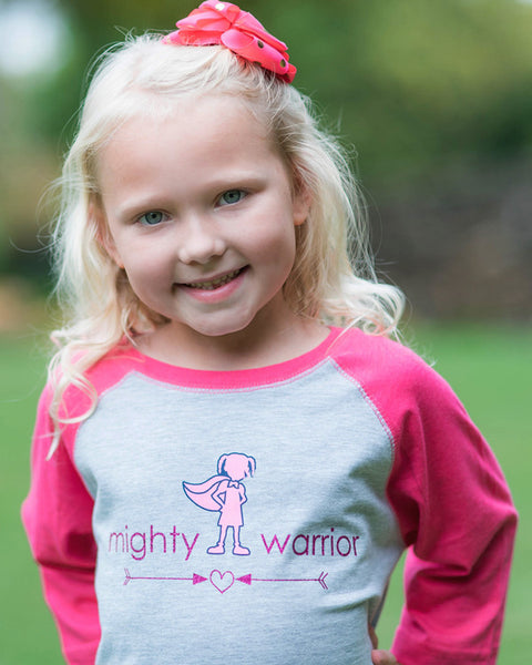 Mighty Warrior Tee or Hoodie - Plaid Buttercup