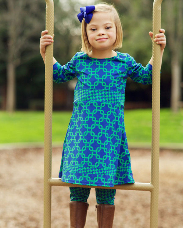 The Sofia Dress with Leggings - Plaid Buttercup