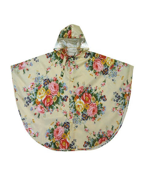 Flower Rain Poncho - Plaid Buttercup