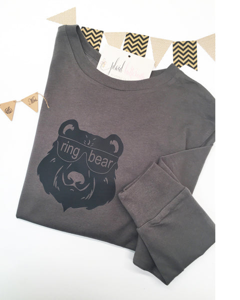Ring Bear Tee - Plaid Buttercup