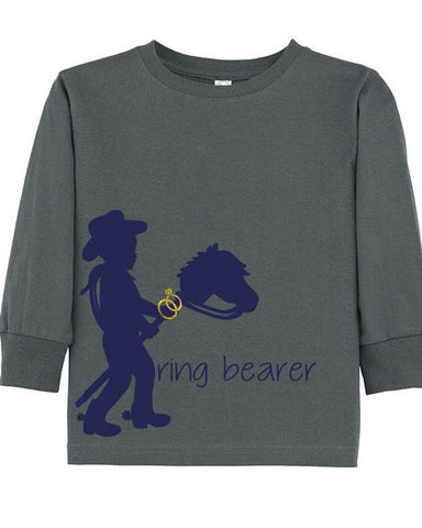 Cowboy Ring Bearer Tee - Plaid Buttercup
