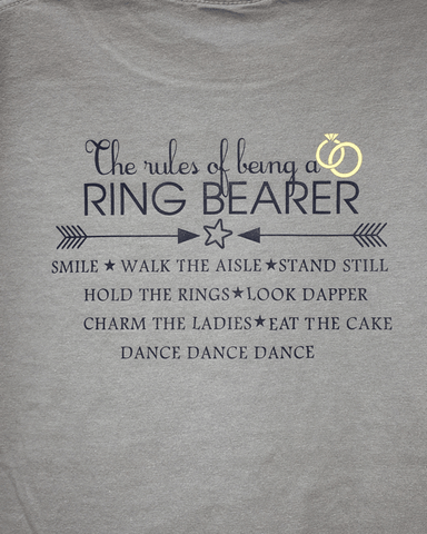 Rules of Being a Ring Bearer - Plaid Buttercup