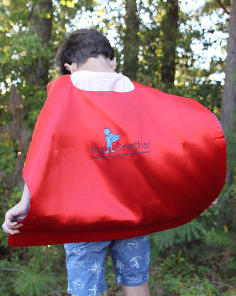 Brother Superhero Cape - Plaid Buttercup