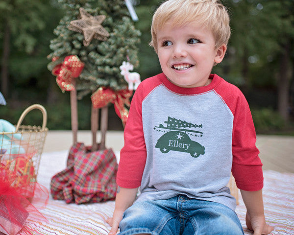 Surfer Buggy Holiday Tee - Plaid Buttercup