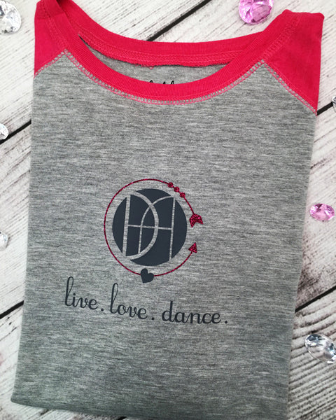 Live. Love . Dance. DAG - Plaid Buttercup