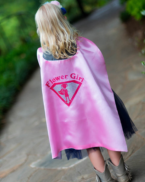Flower Girl Super Shield Cape - Plaid Buttercup
