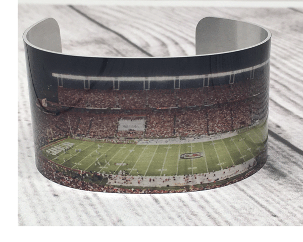 South Carolina Game Day Cuff - Plaid Buttercup