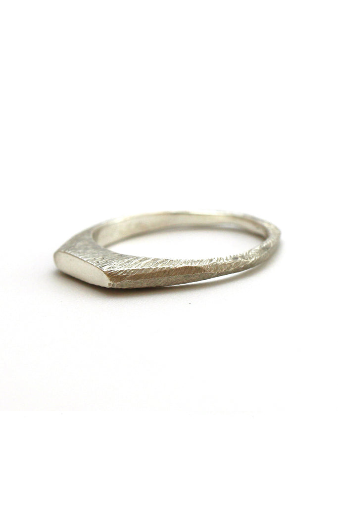 Simple and unique dainty Sterling Silver bar ring. by lacuna jewelry