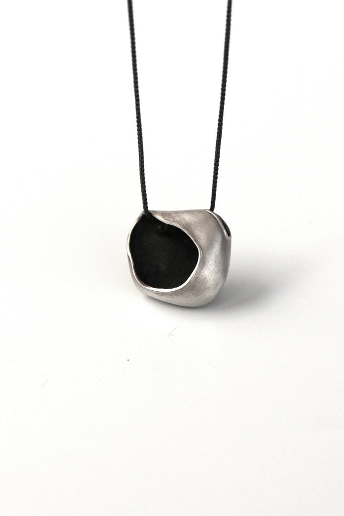 Unique dainty Sterling Silver pendant necklace by lacuna jewelry