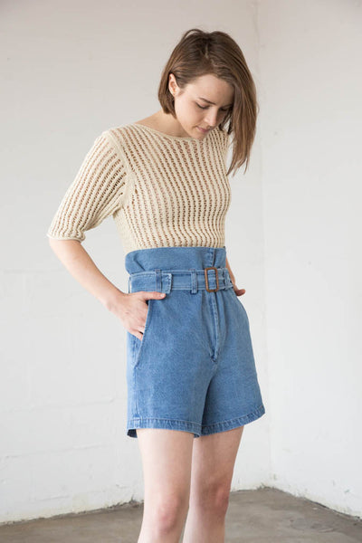 Caron Callahan - Dover Shorts in Faded Indigo