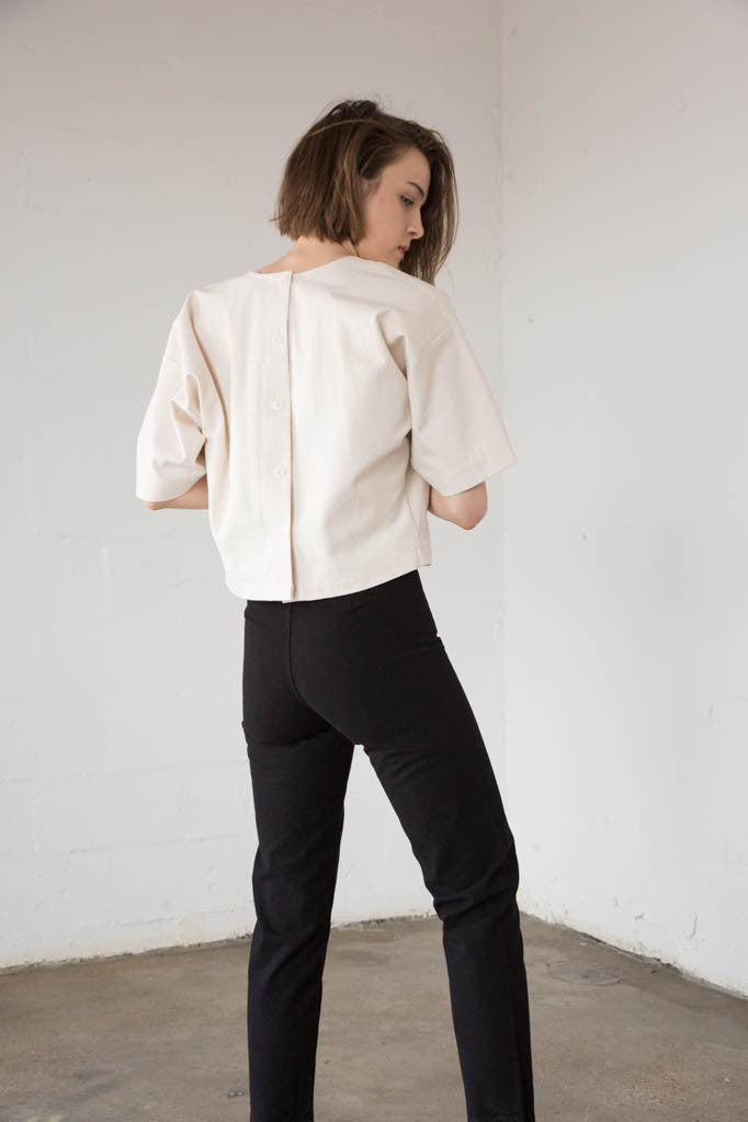 Caron Callahan - Walsh Top in Canvas