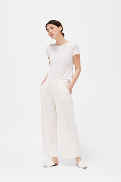 LACAUSA - Isabelle Trouser in Bone