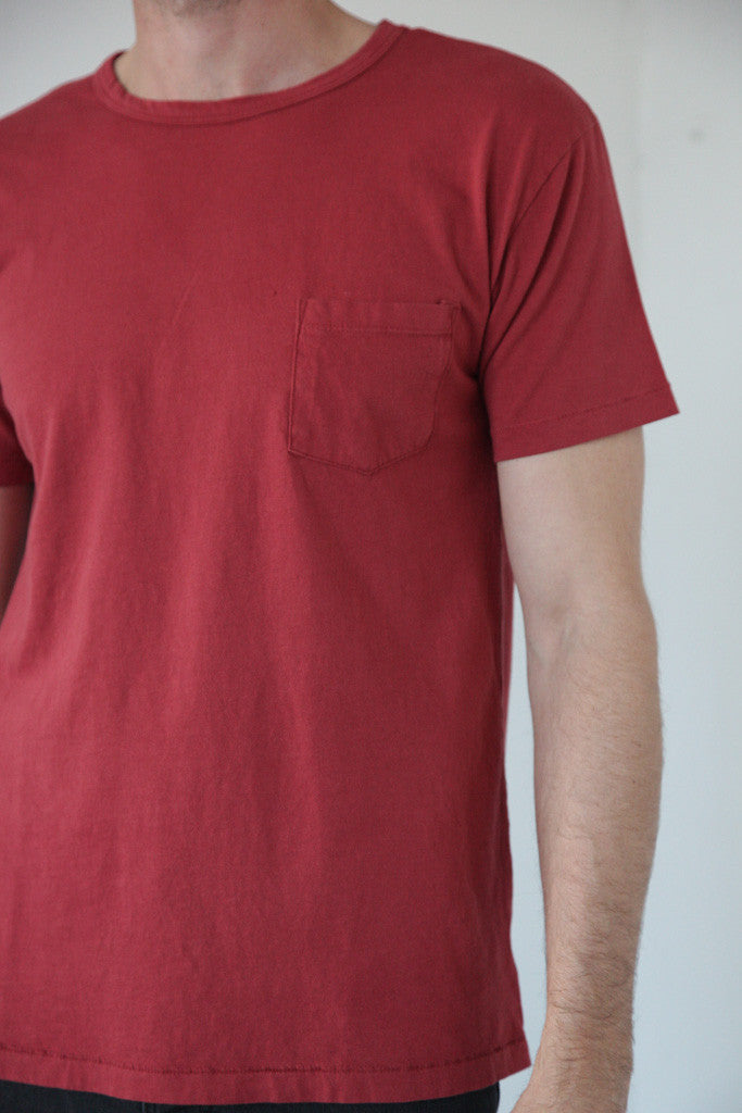 Two Son - Unisex Pocket Tee in Cranberry