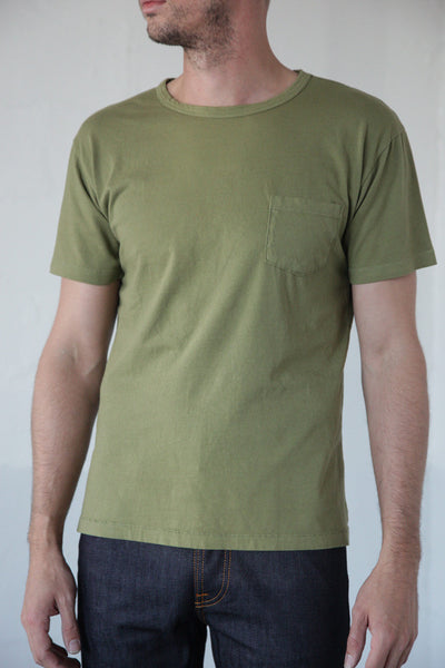 Two Son - Pocket Tee in Army