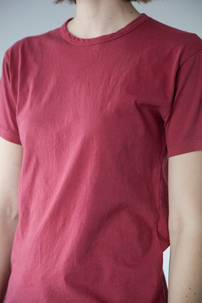 Two Son - Vintage Tee in Cranberry