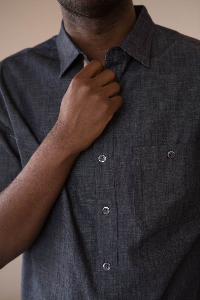 Two Son - Short Sleeved Denim Button Down