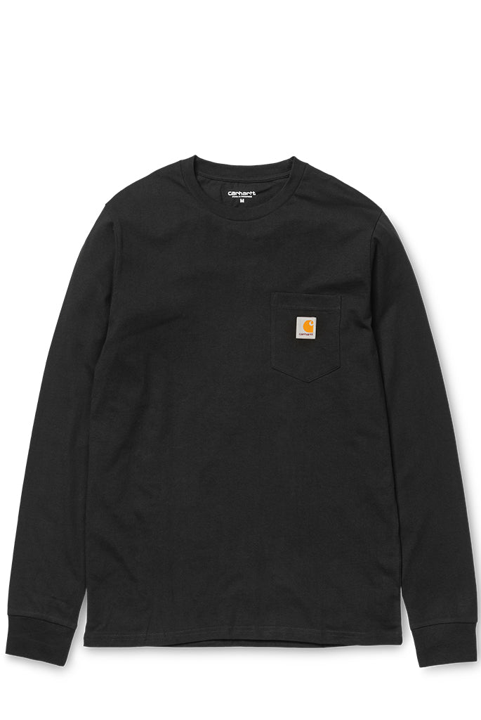 Carhartt WIP - L/S Pocket Tee Shirt in Black